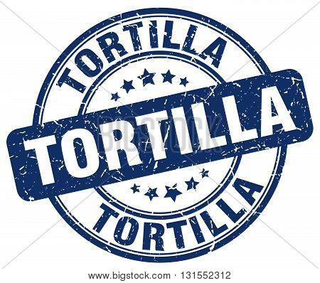 Tortilla Blue Grunge Round Vintage Rubber Stamp.tortilla Stamp.tortilla Round Stamp.tortilla Grunge