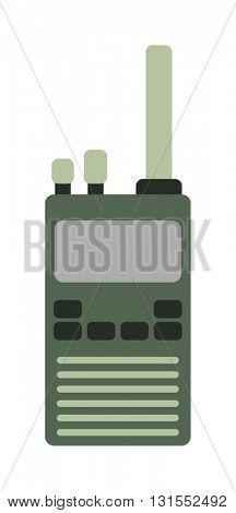 Radio transceiver with antena vector