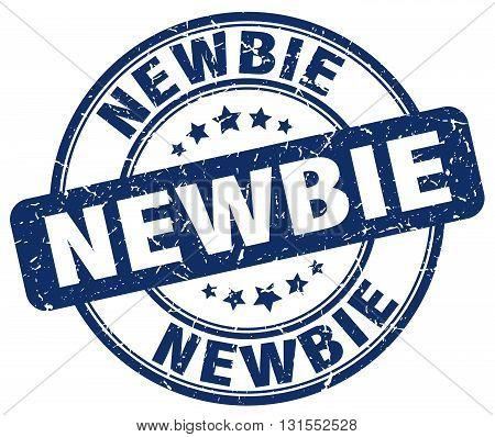newbie blue grunge round vintage rubber stamp.newbie stamp.newbie round stamp.newbie grunge stamp.newbie.newbie vintage stamp.