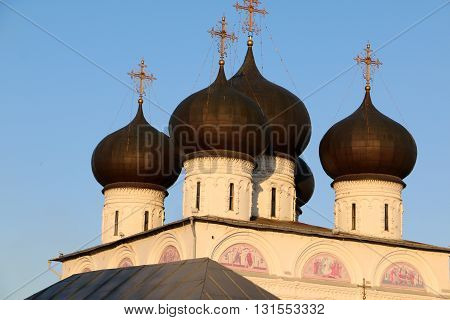 Beautiful Chirch And Blue Sky In Spring Day