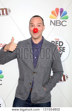LOS ANGELES - MAY 26:  Tony Hale at the Red Nose Day 2016 Special at Universal Studios on May 26, 2016 in Los Angeles, CA