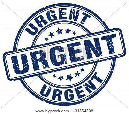 Urgent Blue Grunge Round Vintage Rubber Stamp.urgent Stamp.urgent Round Stamp.urgent Grunge Stamp.ur