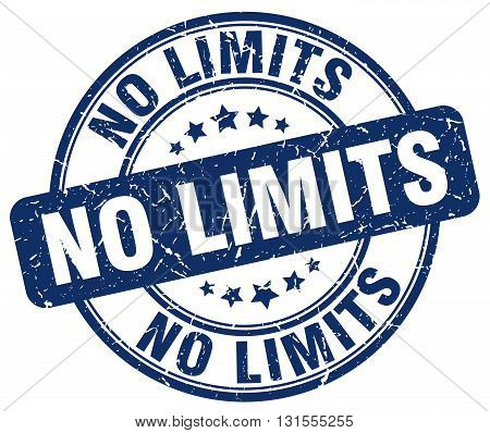 no limits blue grunge round vintage rubber stamp.no limits stamp.no limits round stamp.no limits grunge stamp.no limits.no limits vintage stamp.