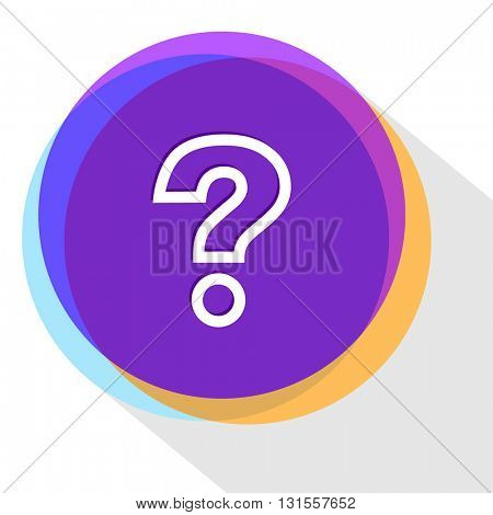 query sign. Internet template. Vector icon.