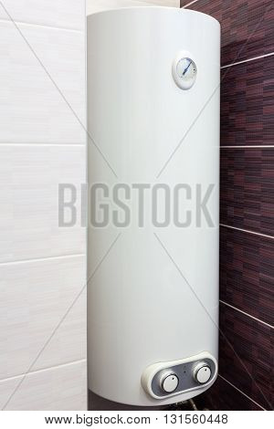 Electric Boiler (wall water heater) in bathroom