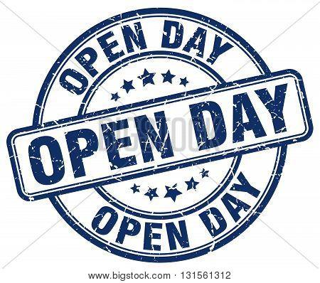open day blue grunge round vintage rubber stamp.open day stamp.open day round stamp.open day grunge stamp.open day.open day vintage stamp.