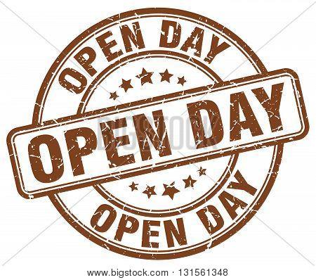 open day brown grunge round vintage rubber stamp.open day stamp.open day round stamp.open day grunge stamp.open day.open day vintage stamp.