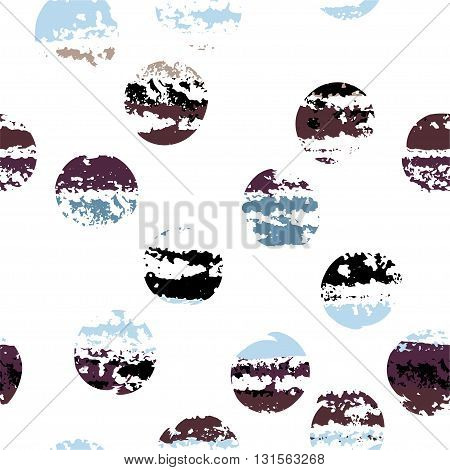 Cute Vector Geometric Seamless Pattern. Brush Strokes. Polka Dots And Blots. Hand Drawn Grunge Textu