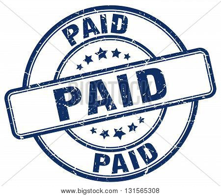 paid blue grunge round vintage rubber stamp.paid stamp.paid round stamp.paid grunge stamp.paid.paid vintage stamp.