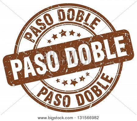 paso doble brown grunge round vintage rubber stamp.paso doble stamp.paso doble round stamp.paso doble grunge stamp.paso doble.paso doble vintage stamp.