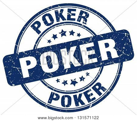 poker blue grunge round vintage rubber stamp.poker stamp.poker round stamp.poker grunge stamp.poker.poker vintage stamp.