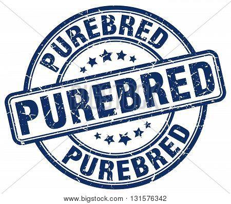 purebred blue grunge round vintage rubber stamp.purebred stamp.purebred round stamp.purebred grunge stamp.purebred.purebred vintage stamp.