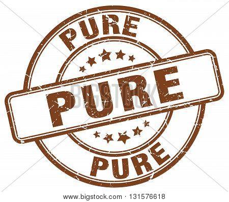 pure brown grunge round vintage rubber stamp.pure stamp.pure round stamp.pure grunge stamp.pure.pure vintage stamp.