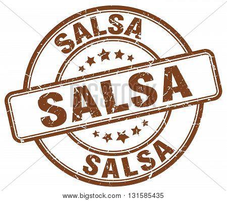 salsa brown grunge round vintage rubber stamp.salsa stamp.salsa round stamp.salsa grunge stamp.salsa.salsa vintage stamp.