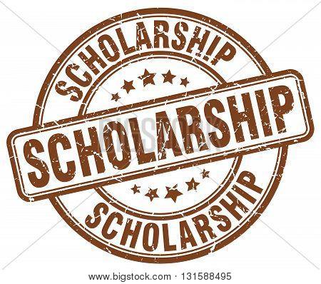 scholarship brown grunge round vintage rubber stamp.scholarship stamp.scholarship round stamp.scholarship grunge stamp.scholarship.scholarship vintage stamp.