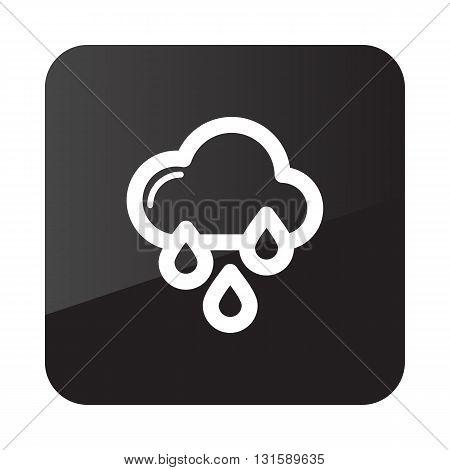 Rain Cloud Rainfall outline icon. Meteorology. Weather. Vector illustration eps 10