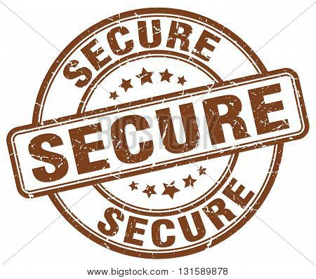 secure brown grunge round vintage rubber stamp.secure stamp.secure round stamp.secure grunge stamp.secure.secure vintage stamp.