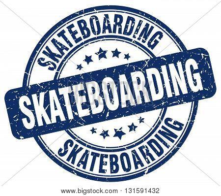 skateboarding blue grunge round vintage rubber stamp.skateboarding stamp.skateboarding round stamp.skateboarding grunge stamp.skateboarding.skateboarding vintage stamp.
