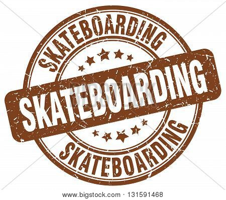 skateboarding brown grunge round vintage rubber stamp.skateboarding stamp.skateboarding round stamp.skateboarding grunge stamp.skateboarding.skateboarding vintage stamp.