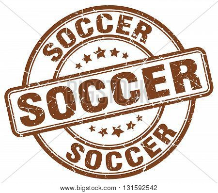 soccer brown grunge round vintage rubber stamp.soccer stamp.soccer round stamp.soccer grunge stamp.soccer.soccer vintage stamp.