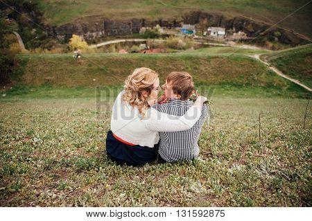 Happy Smiling Couple Having Fun Outdoors