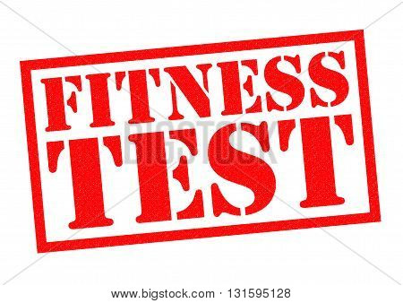 FITNESS TEST red Rubber Stamp over a white background.