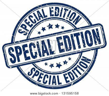 special edition blue grunge round vintage rubber stamp.special edition stamp.special edition round stamp.special edition grunge stamp.special edition.special edition vintage stamp.