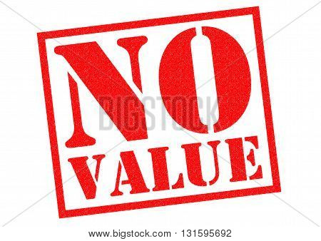 NO VALUE red Rubber Stamp over a white background.