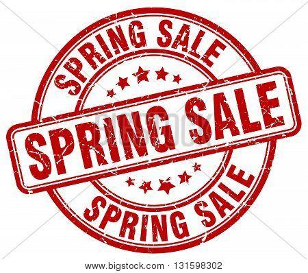 spring sale red grunge round vintage rubber stamp.spring sale stamp.spring sale round stamp.spring sale grunge stamp.spring sale.spring sale vintage stamp.