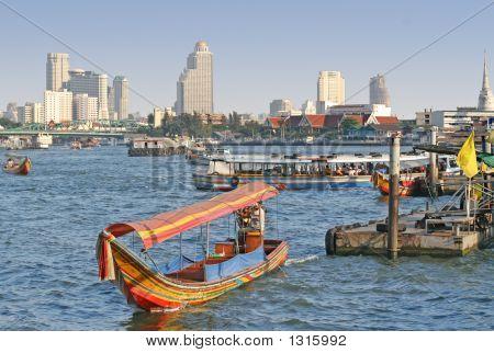 Chao Praya River In Bangkok