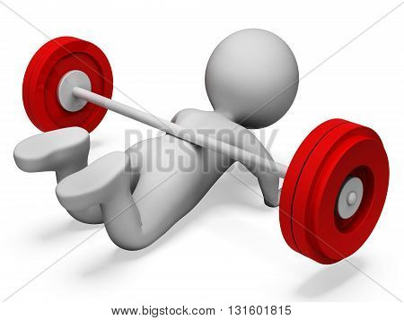 Gym Weak Shows Physical Activity And Complication 3D Rendering