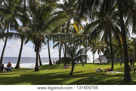 Cap Mechant Coastline, La Reunion Island, France