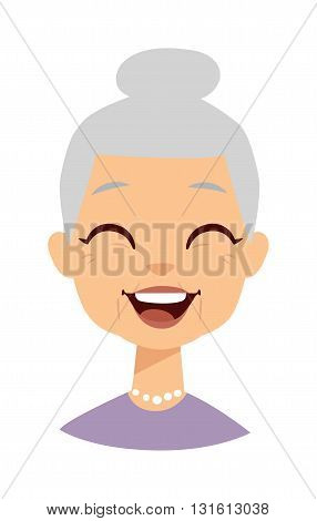 Old people cute granny and funny cute granny face. Cute granny vector character and cartoon cute happy granny. Cute granny adult happy woman face and old granny character love lifestyle.