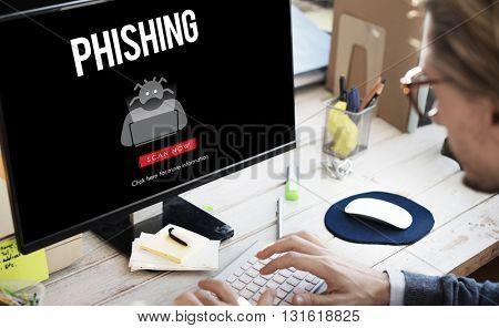 Scam Virus Spyware Malware Antivirus Concept