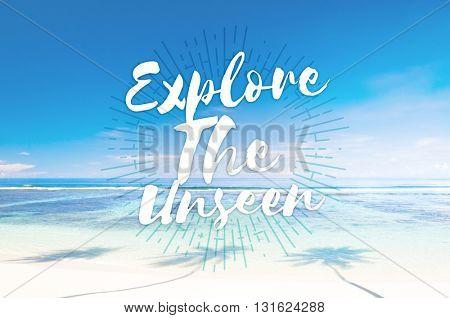Explore the Unseen Journey Trip Destination Traveling Adventure Concept poster