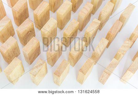Wooden Domino In Row