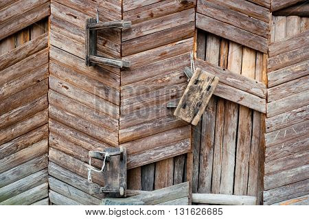 WOOD WALL WITH THREE SMALL CHAIRS HANGED, CHINA