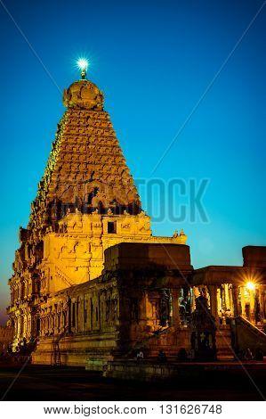Night shoot of Brihadeshwara Temple, Thanjavur (Tanjore), India