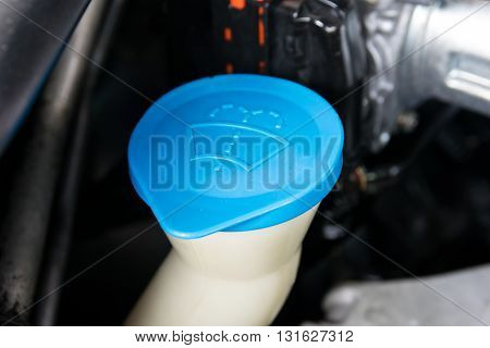 the liquid cap in car engine. antifreeze, auto, automobile