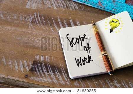 Handwritten Text Scope Of Work