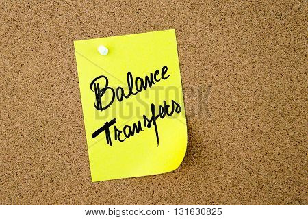 Business Acronym Bt As Balance Transfers