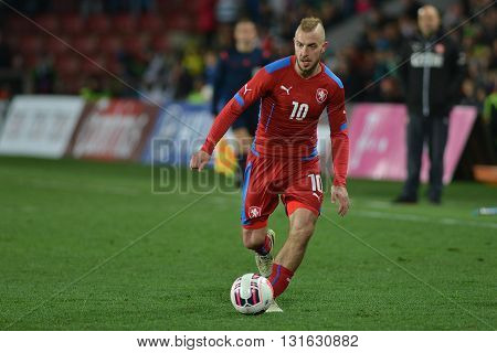 PRAGUE 27/03/2015 _ Jiri Skalak. Friendly match Czech Reublic U21 - England U21.