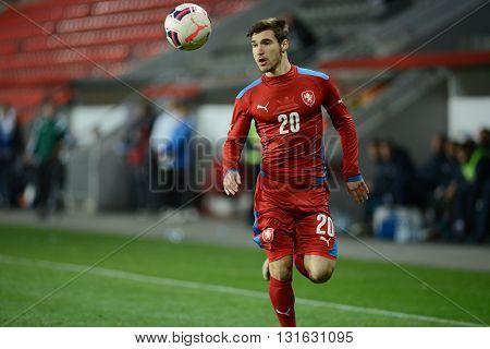 PRAGUE 31/03/2015 _ Michal Travnik. Friendly match Czech Reublic U21 - Portugal U21