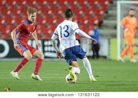PRAGUE 31/03/2015 _ Tomáš Kalas and Joao Cancelo. Friendly match Czech Reublic U21 - Portugal U21