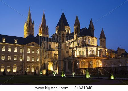 L'Abbaye-aux-Hommes Church of Saint Etienne Caen Normandy France