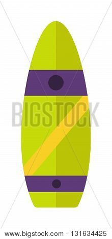 Vintage surfboard isolated on white and design summer sport surfing board. Surfing board activity wave extreme collection and surfing board pattern abstract sea tropical sign. Surfing wood board.