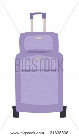 Large travel bag suitcase isolated on white and suitcase travel voyage. Travel suitcase handle baggage and suitcase tourist packing. Summer travel vacation bag