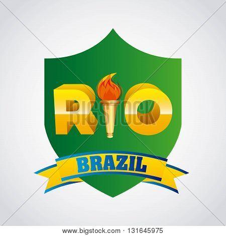 rio brazil design, vector illustration eps10 graphic