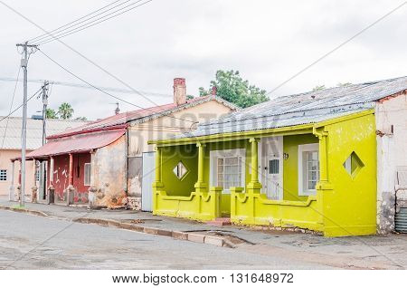 MIDDELBURG SOUTH AFRICA - MARCH 8 2016: Historic old houses in Middelburg in the Eastern Cape Karoo Region