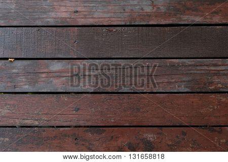 wooden bridge floor texture. a beautiful brown wooden bridge floor. wooden background. texture. pattern.